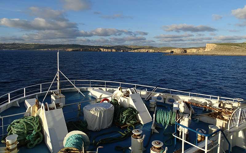 Auf der Fähre nach Gozo