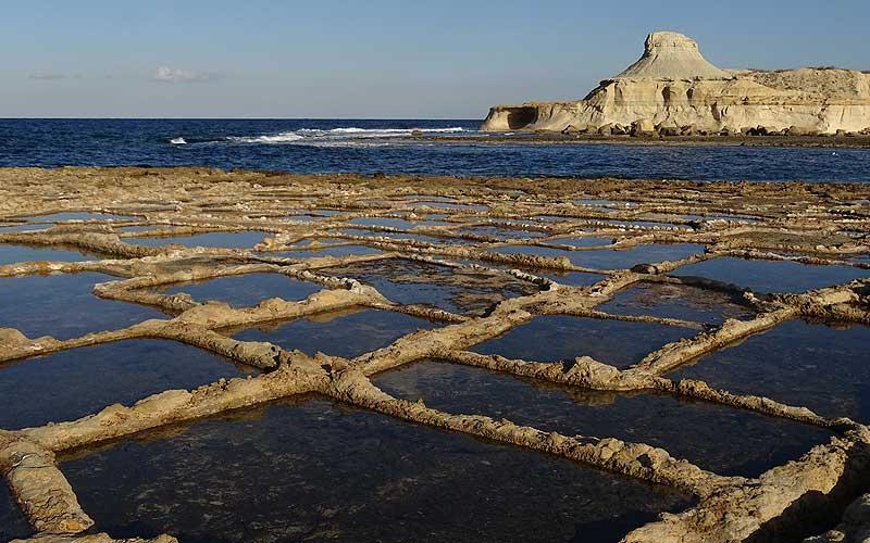 Salzpfannen auf Gozo
