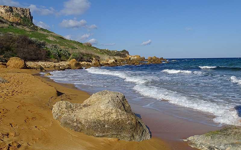Einer von 3 Tagen auf Gozo: die San Blas Bay, Strand und Meer