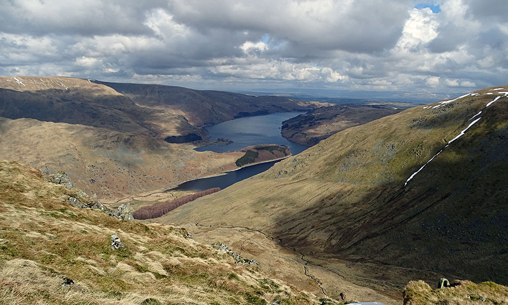Blick auf den See Haweswater im Lake District