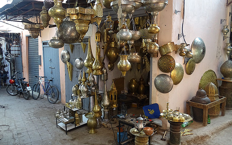 Laden mit Lampen in Marrakesch