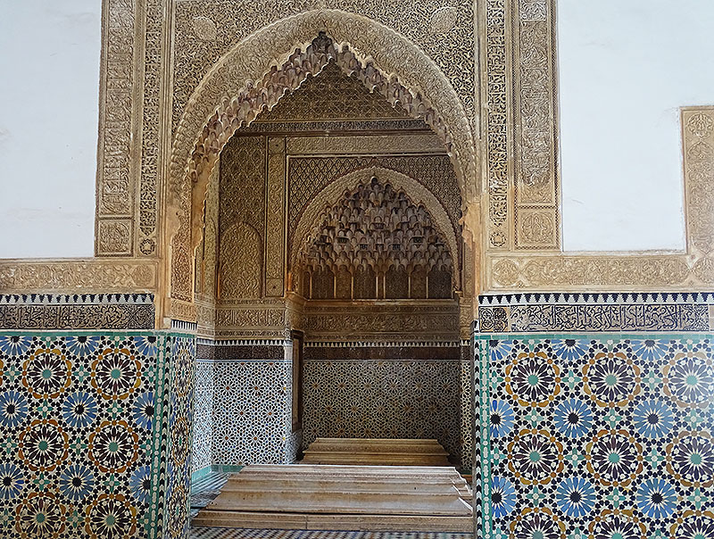 Mosaiken in den Saadier-Gräbern in Marrakesch