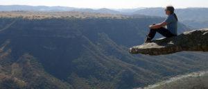 Freihängender Felsen am Oribi Gorge