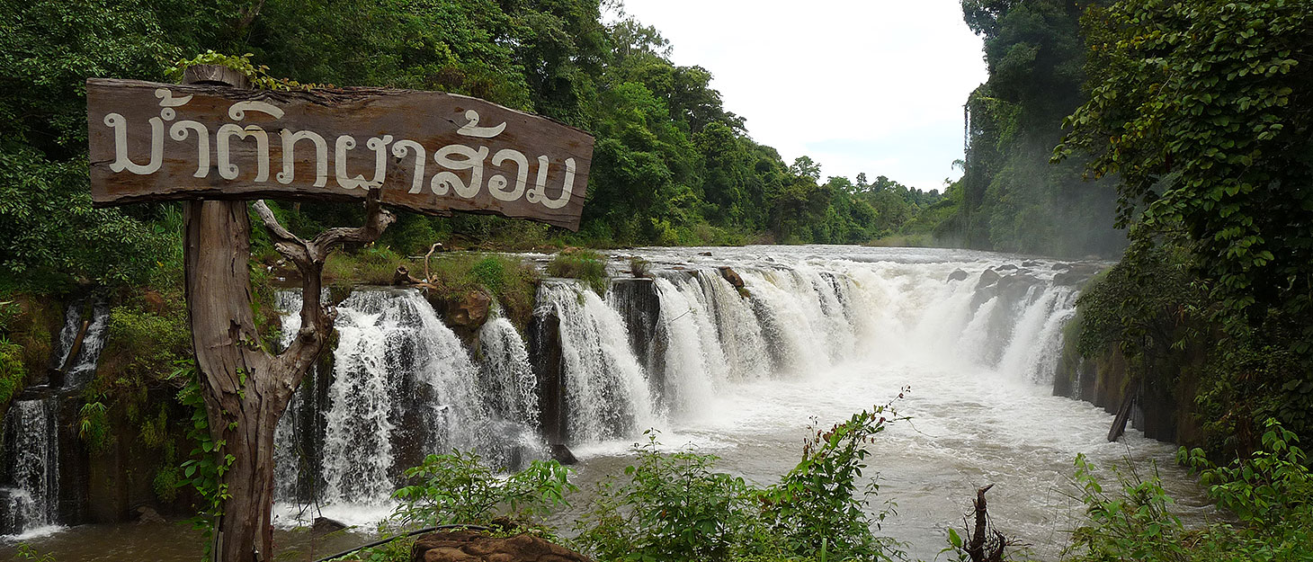 Wasserfall am Bolaven-Plateau