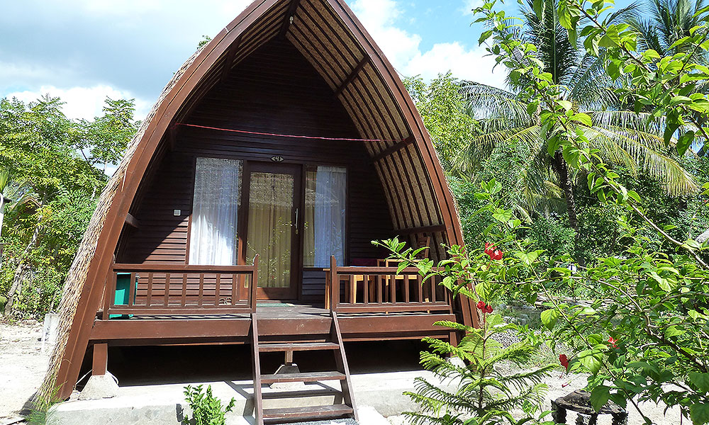 Hütte auf einer Insel