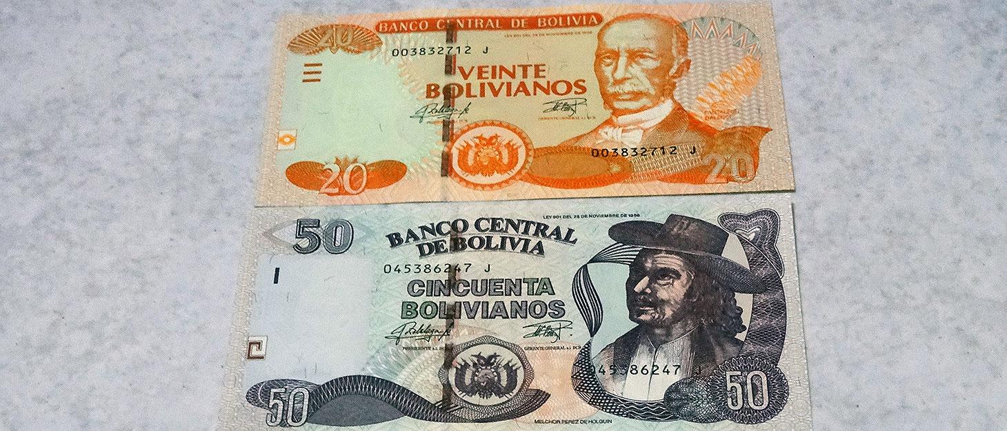 Geldscheine aus Bolivien