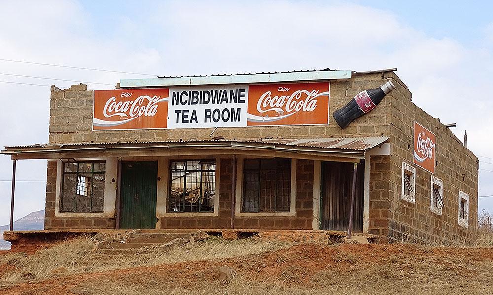 Verfallenes Café in Südafrika