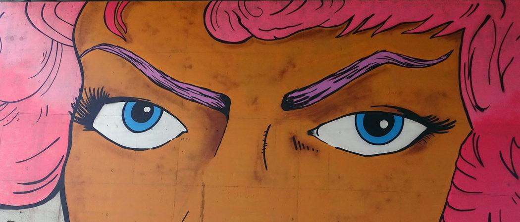Augen als Streetart