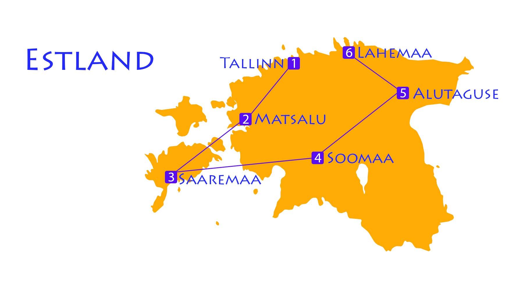 Karte Estland