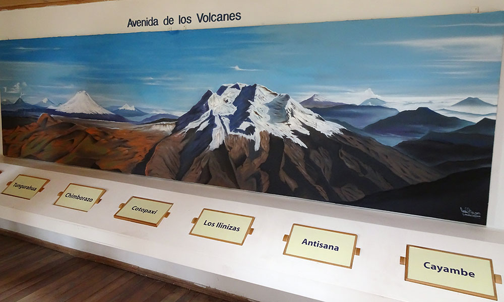 Bild mit Vulkanen und deren Namen