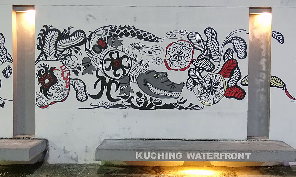 Wandbild von Krokodil