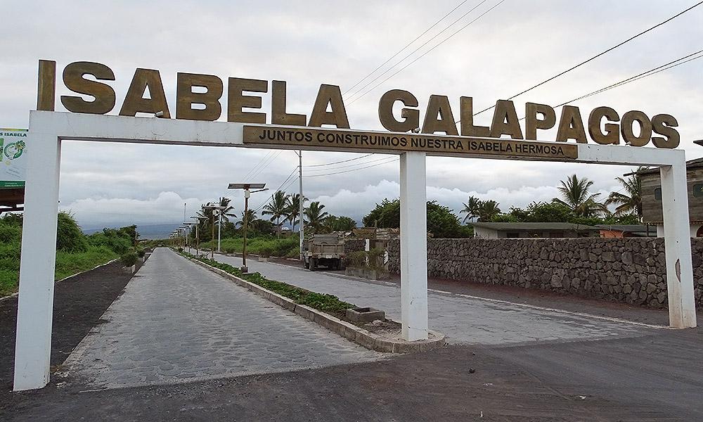 Schild Isabela Galapagos