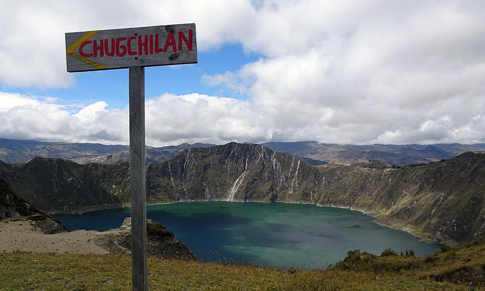 Wegweiser nach Chugchilán