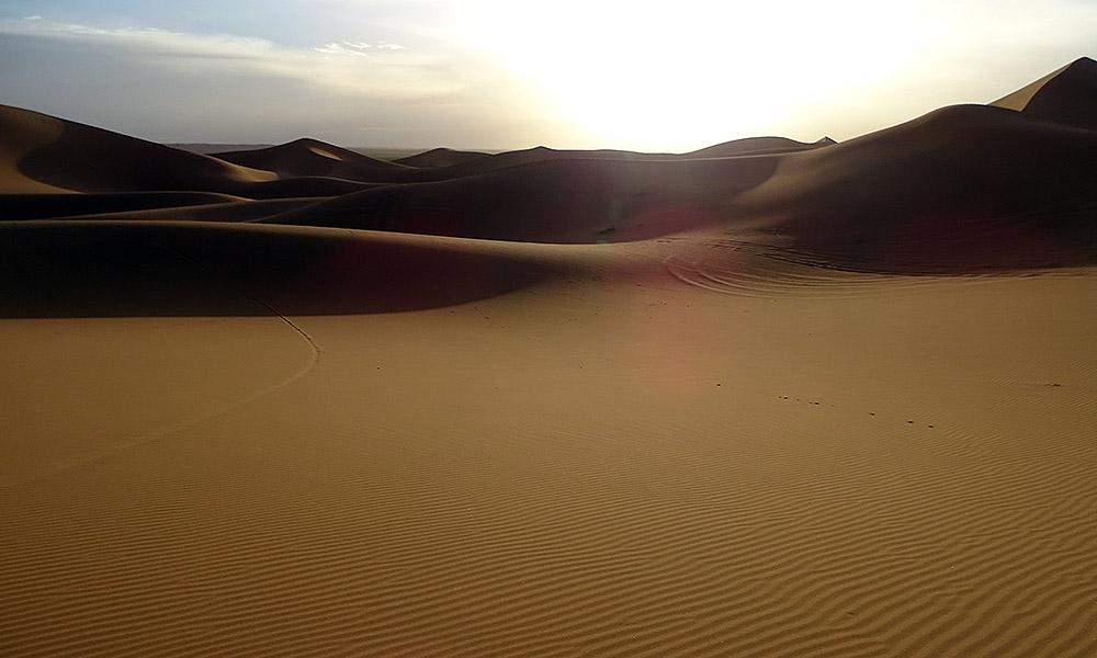Schatten in den Dünen