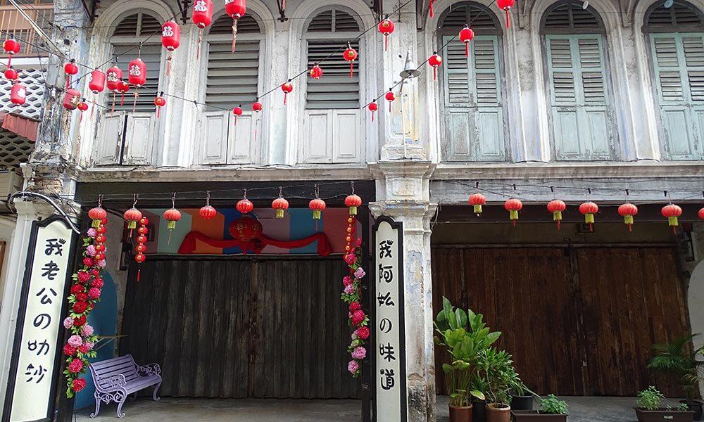 Fassade in der Altstadt von Ipoh