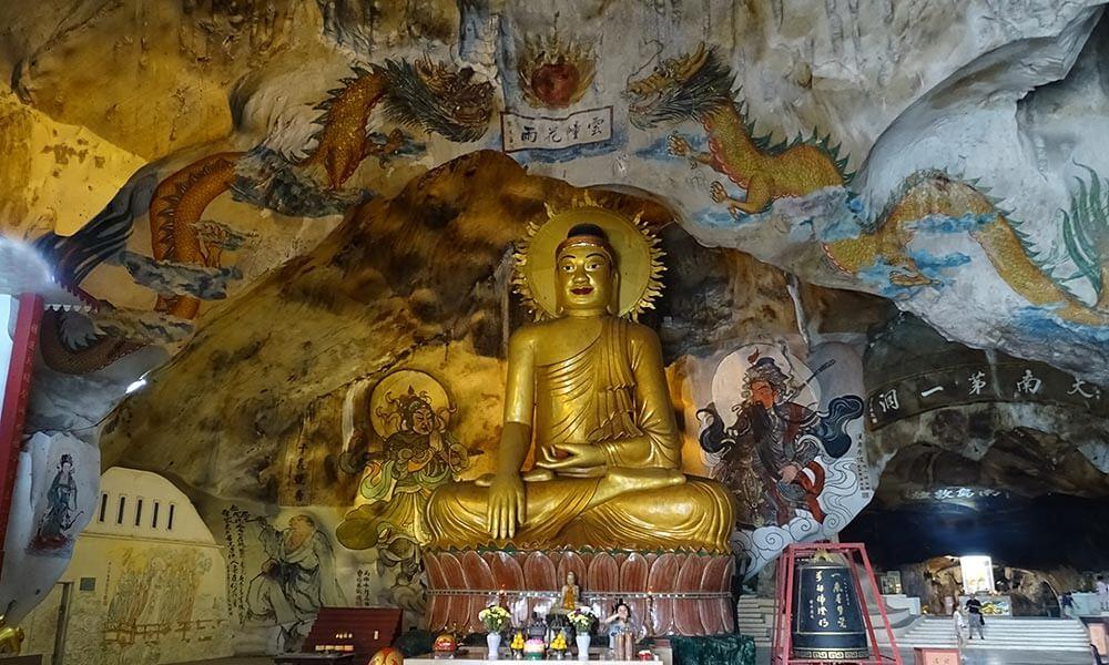 Wandmalereien mit Buddha