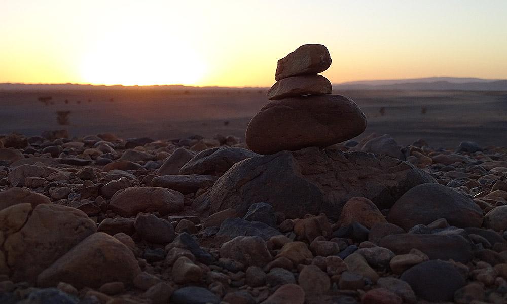 Sonnenuntergang vor Steinmännchen