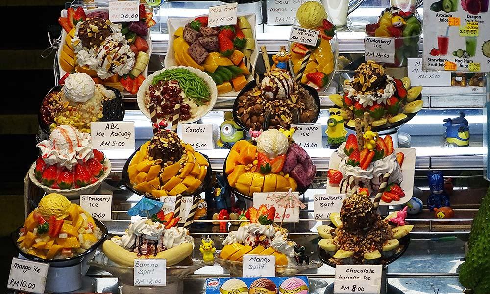 Süßer Nachtisch am Penang Hill