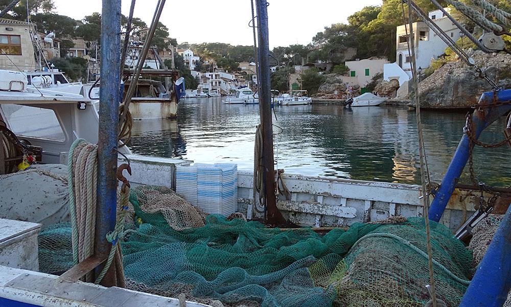 Fischerboote an Cala Figuera