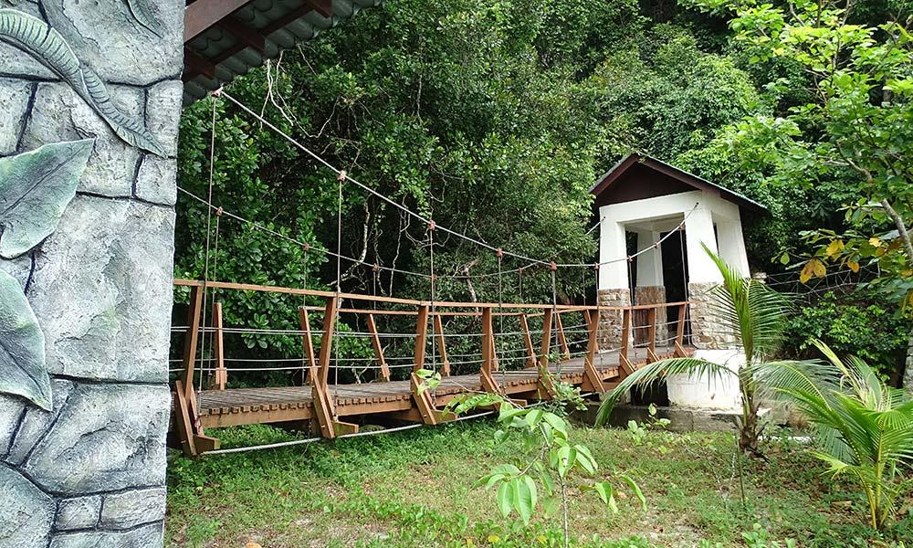 Brücke im Penang Nationalpark