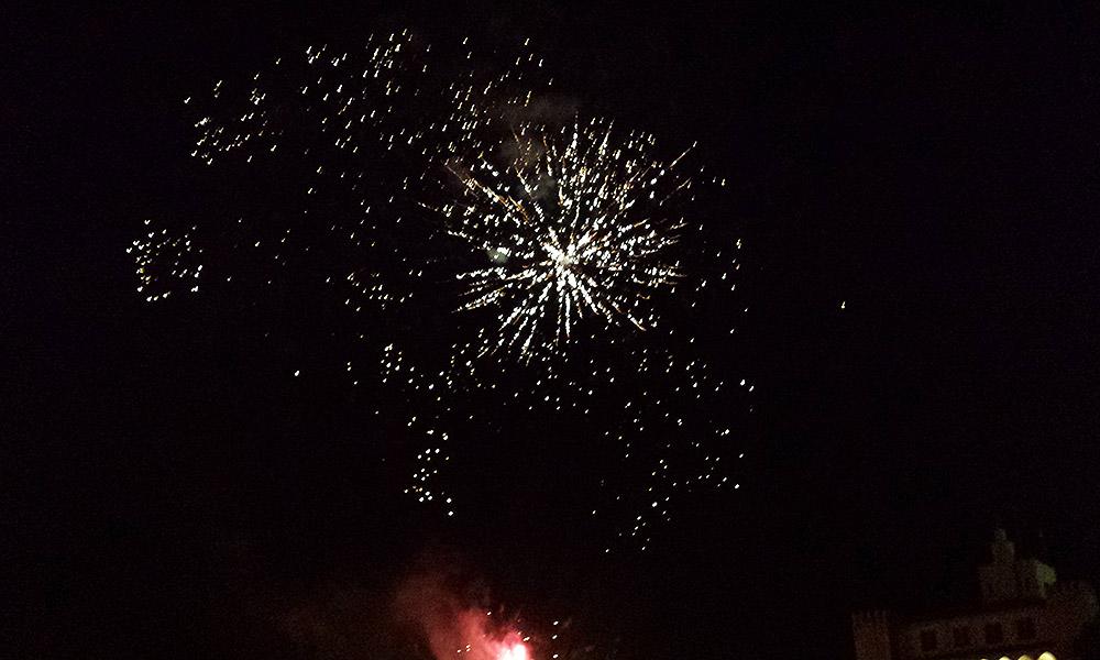 Eine Feuerwerksrakete