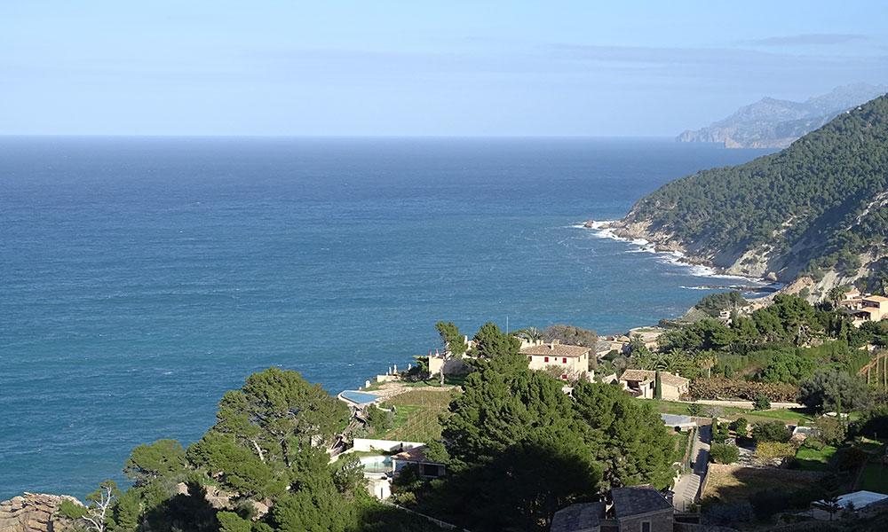Blick über die Küste