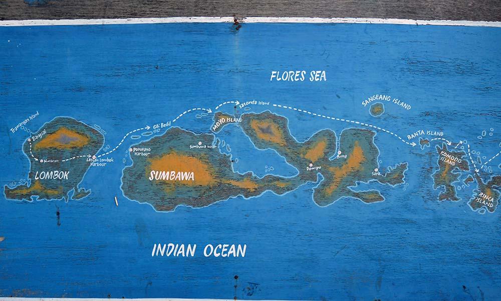Karte mit Inseln
