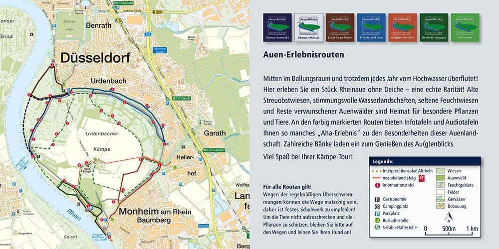 Karte von der Urdenbacher Kämpe
