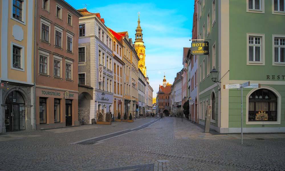 Renovierte Altstadtgebäude