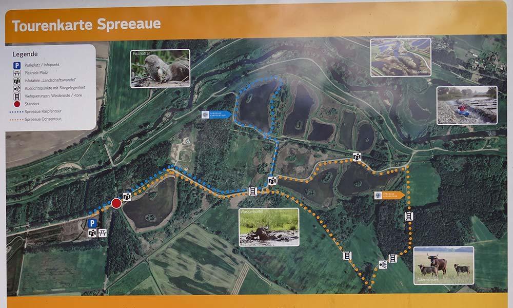 Karte mit Ochsen- und Karpfentour