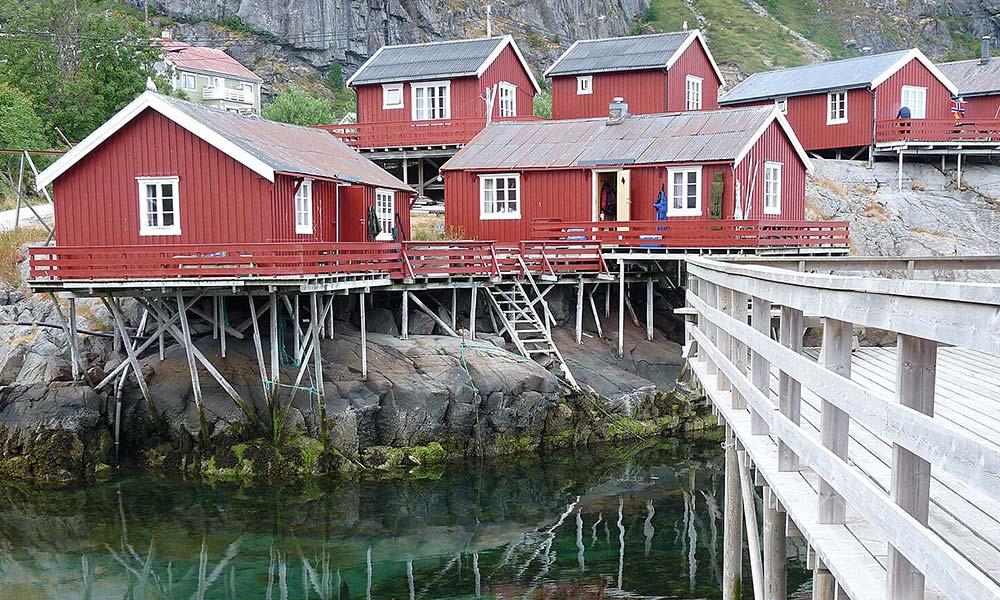 Rote Hütten in Norwegen