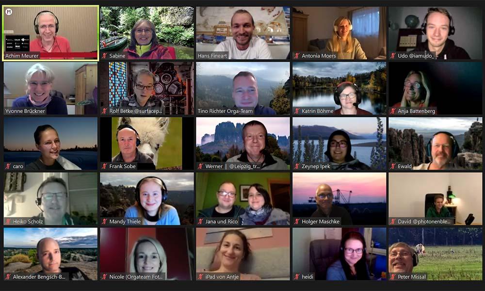Zoom-Fenster mit vielen Teilnehmern