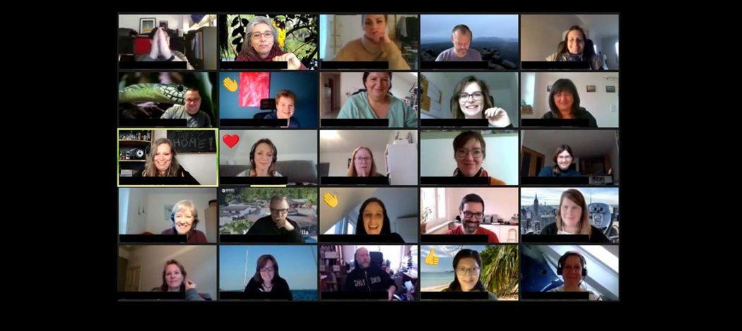 Zoom-Screenshot mit vielen Teilnehmern
