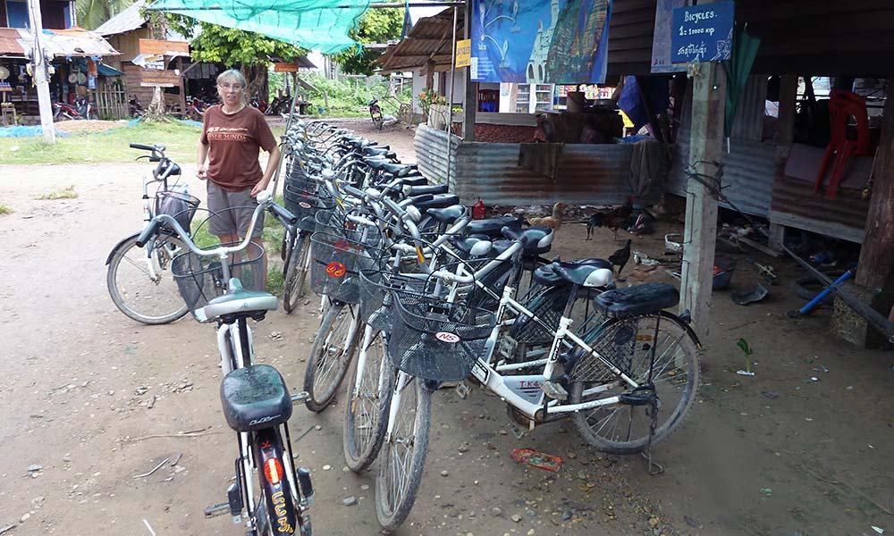 Fahrradverleih in Asien