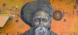 Wandmalerei: Alter Mann mit Turban