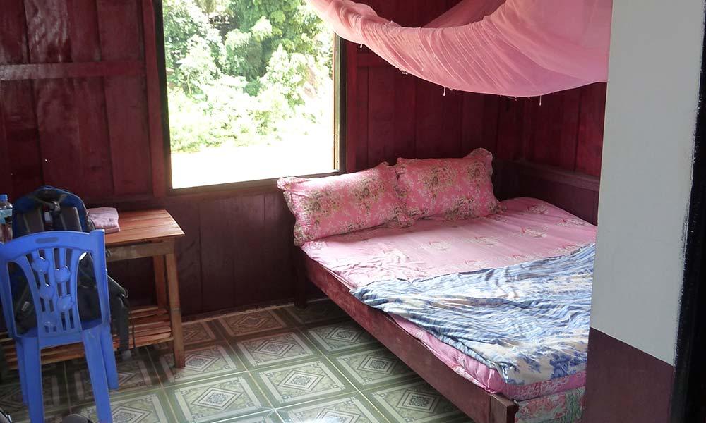 Sehr einfache Unterkunft