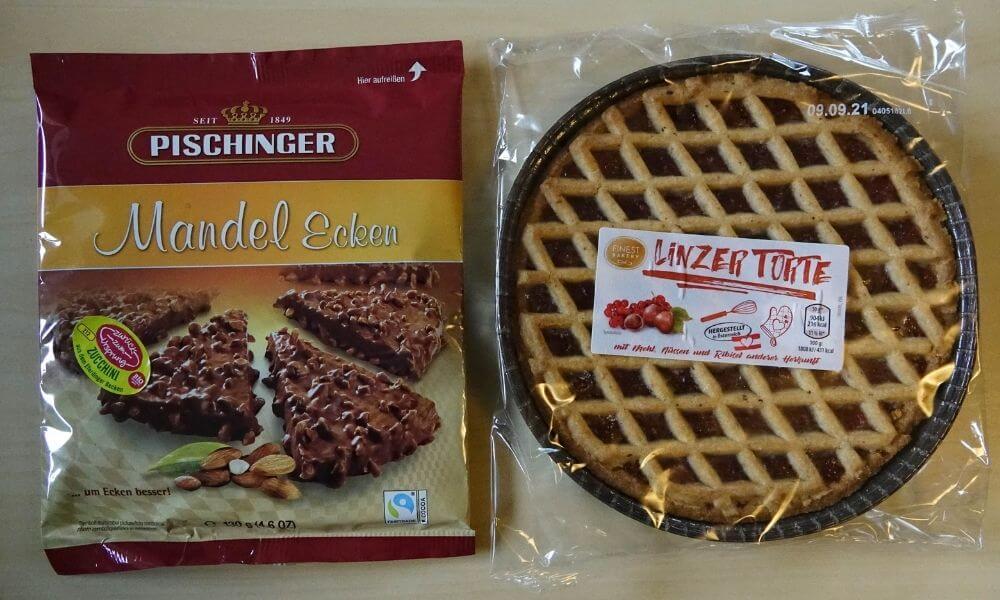 Mandelecken und Linzer Torte