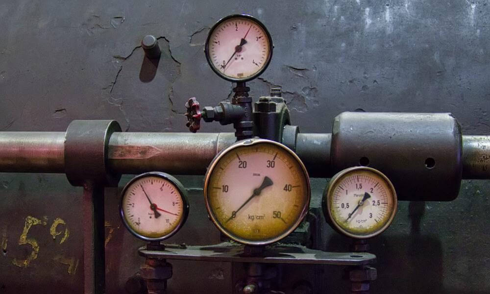 Temperaturmesser in Völklinger Hütte