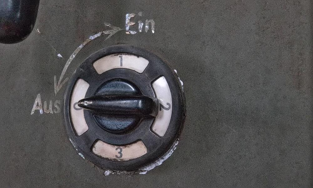 Ein-Aus-Schalter in Völklinger Hütte